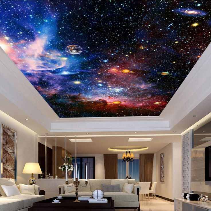 Custom Size Universe Star Ceiling Wallpaper Mural (㎡) in