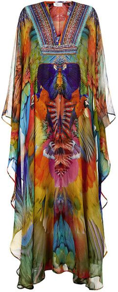 Camilla  Franks  Parrot Print Long Kaftan @Lyst: My sister would love this!