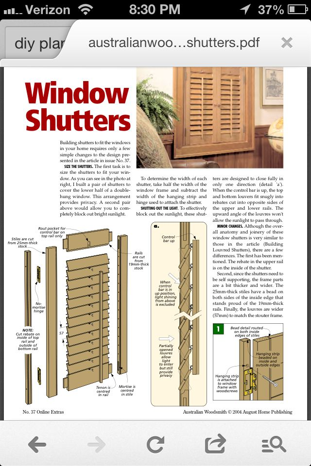 PDF DIY How To Build Plantation Shutters Download hunting ...