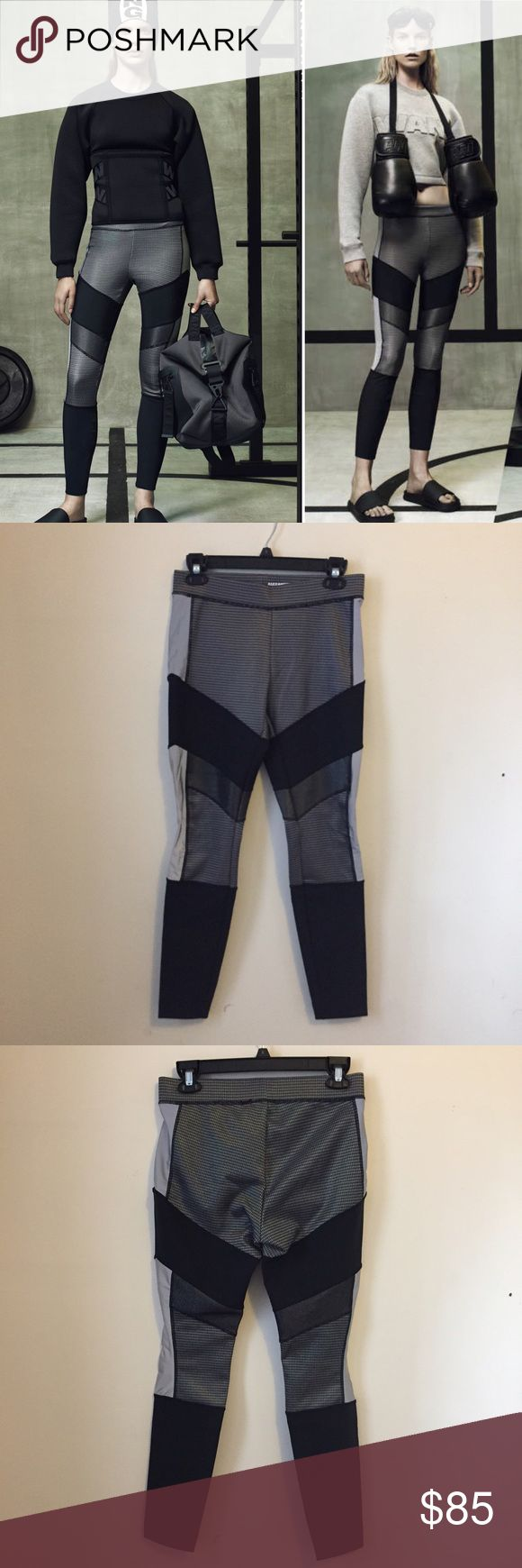 NWT Alexander Wang for H&M Leggings Black, silver, and grey leggings from the sold out Alexander Wang collection for H&M. These are brand new with tags attached. Size 8. H&M Pants Leggings