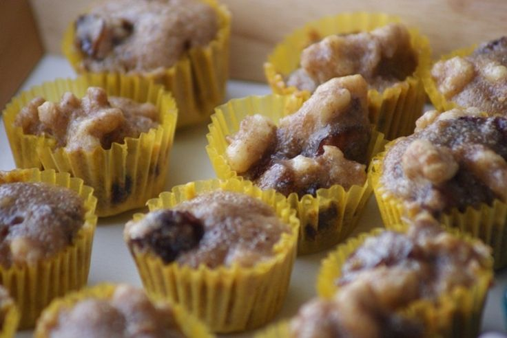 Little pieces of dates and walnuts inside a tasty batter.. each as small as a bite!