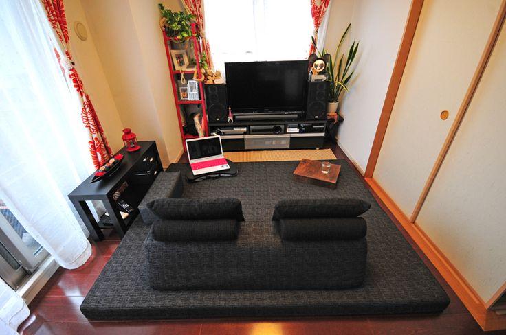 お客様のソファのある暮らし-大阪府 O様 フロフロ |ローソファ専門店 HAREM<