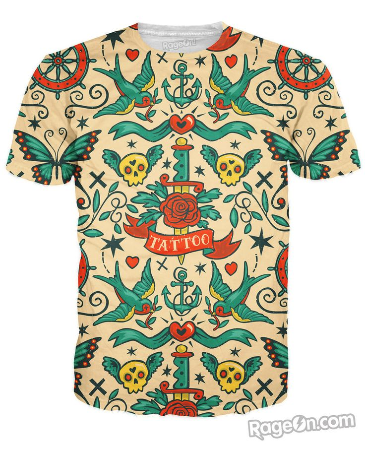 Tattoo T-Shirt by Steve Simpson – RageOn!