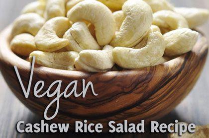 Vegan Cashew Rice Salad Recipe - So Good!