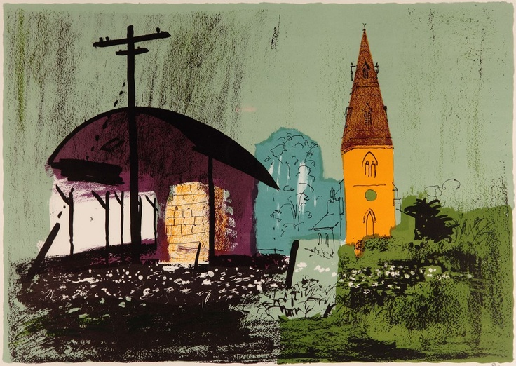 Seaton Lithograph by John Piper