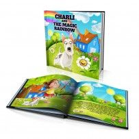 "Personalised Hard Cover Story Book:     ""The Magic Rainbow"" / Dinkleboo"
