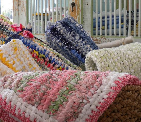 Crochet A Rag Rug Instructions: 17 Best Images About RAG RUGS On Pinterest