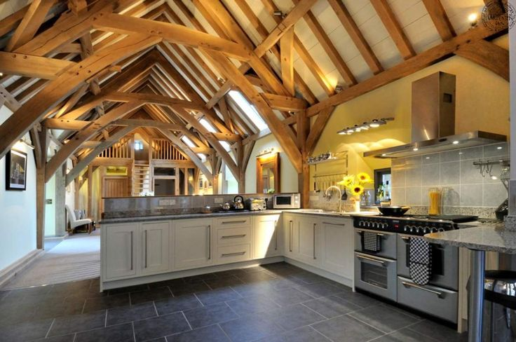 Beautiful barn conversion in Devon, England designed by architect Roderick James | Carpenter Oak.