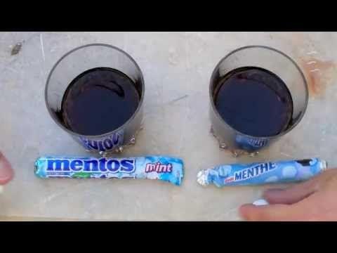 Coca - Mentos: Les coulisses de la réaction - YouTube