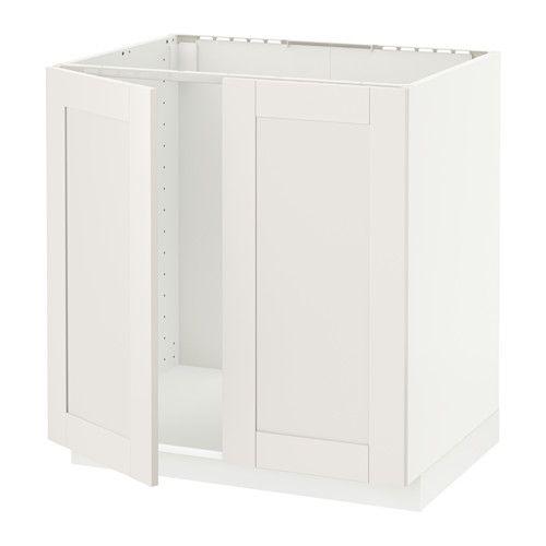 METOD Skříňka pro dřez + 2dveře IKEA Masivní konstrukce rámu, tloušťka 18 mm.