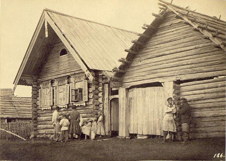 Крестьянская изба в Колпине, 1860-е, Санкт-Петербургская губ., слобода Колпино. Русские.