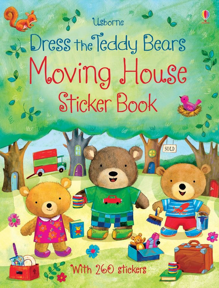 Dress the teddy bears moving house sticker book New for November