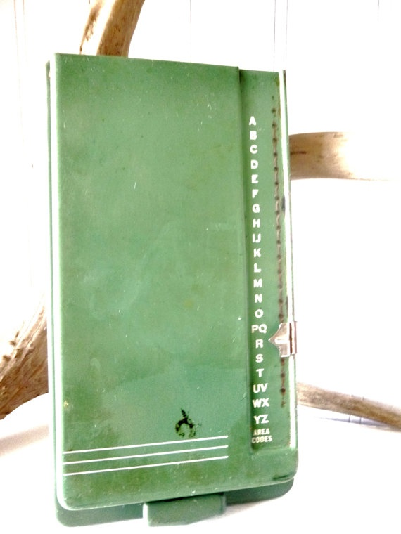 Vintage Minted Green Bates Secretary List Finder by greyandspoon, $32.00