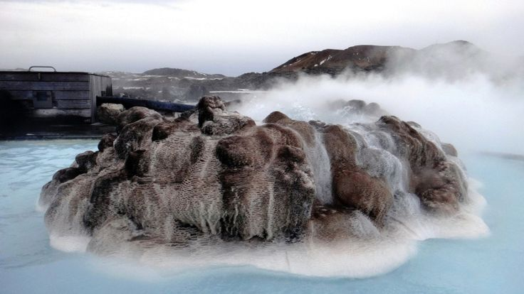 ICELAND'S BLUE LAGOON - When you're in the lagoon the swirling steam which envelops you gives everything an ethereal, dreamlike quality.  Although there are people nearby they're barely visible in the mists and their laughter and voices are strangely muted. #Iceland #bluelagoon