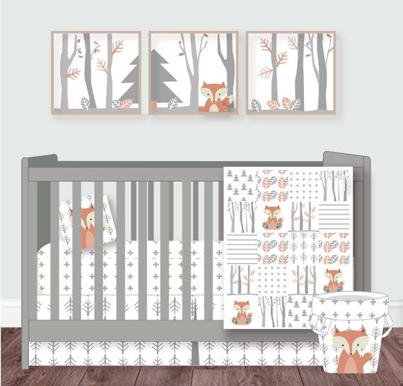 Woodland Nursery Baby Crib Bedding Woodland Crib Set Neutral