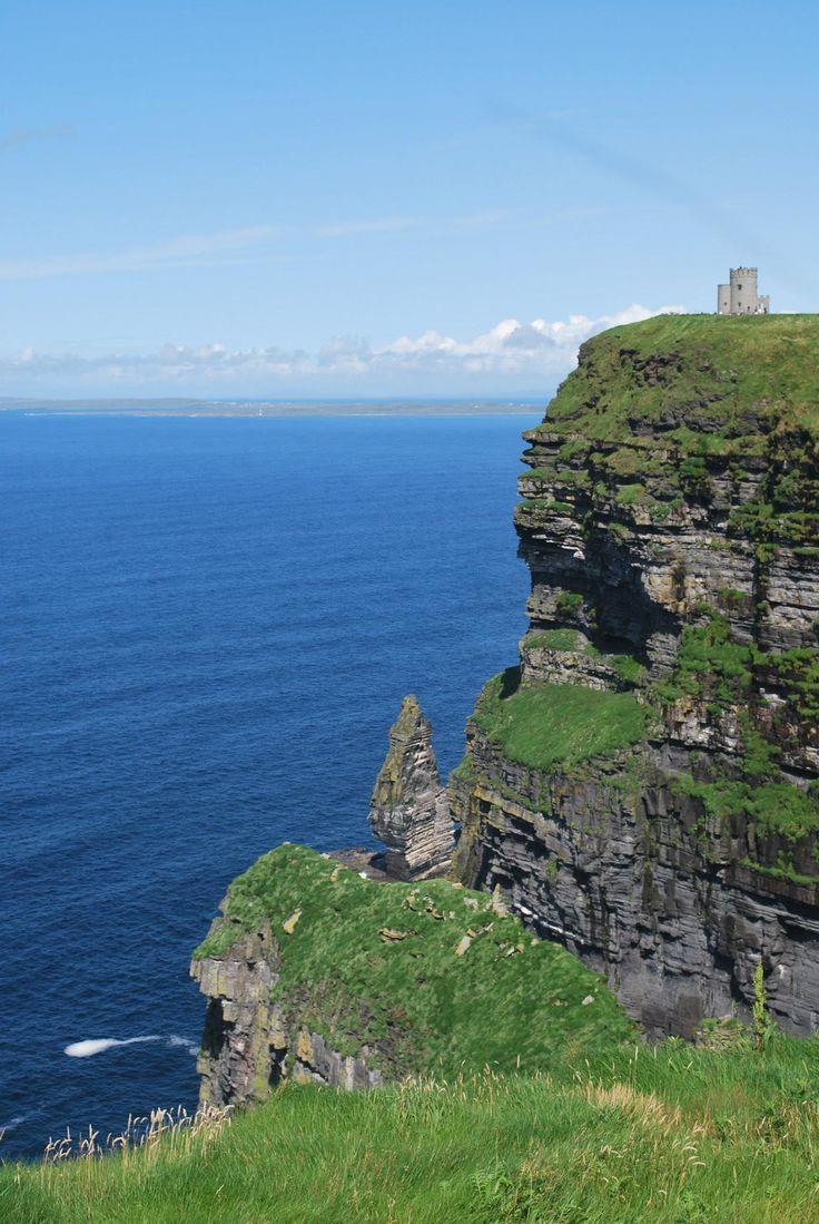 Castle on cliff edge, Doolin, Ireland.