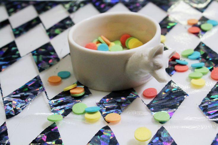 ceramic fox-contanier for confetti, www.andenogmanden.dk