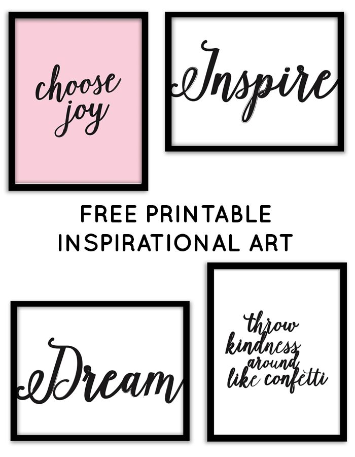 Free Printable Inspirational Wall Art from @chicfetti