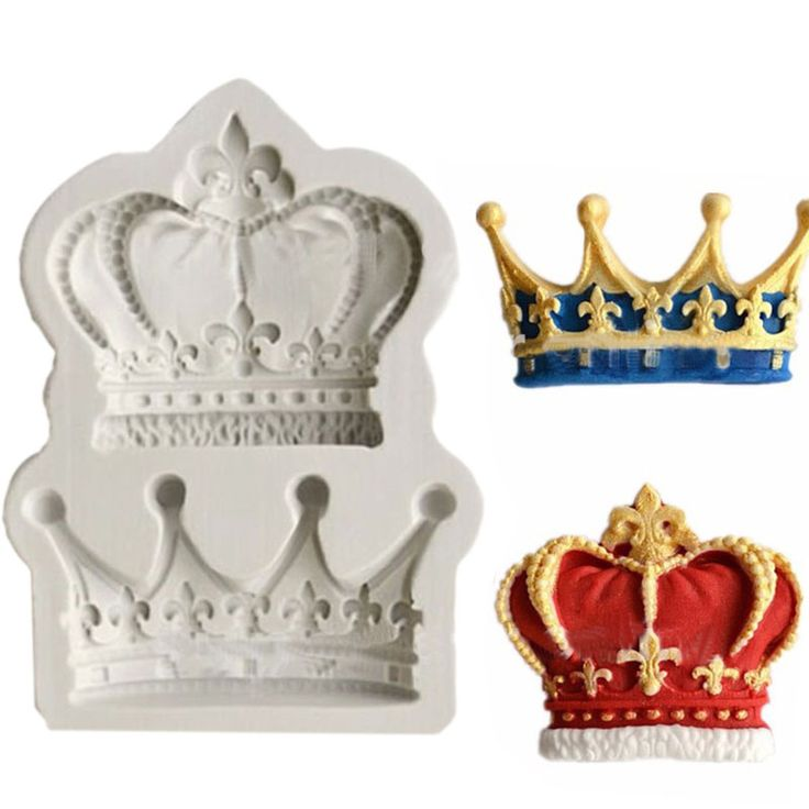 Crowns from Princess Queen 3D Silicone Mold Fondant Cake Cupcake Decorating Tools  Clay Resin Candy Fimo Super Sculpey F0761
