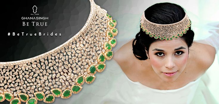 The Be True Bridal Collection that can steal everyone's attention in all its overwhelming glory. Make it yours at Ghanasingh Be True jewellery salon! #BeTrueBrides