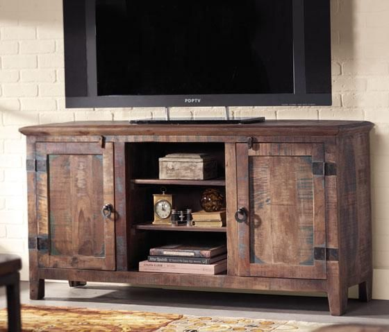 Holbrook TV Stand  Add Interest and Rustic Appeal to Your Home Theater Furniture  Item # 01793    Overall Rating 4.6 out of 5  (9)    Read all reviews Write a review  Adding a sense of originality to your living room or home theater is easy with this beautiful TV stand from our Holbrook Collection. Made of reclaimed and recycled materials, each individual TV stand is sure to be unique. With its weathered, rustic look, it's sure to accentuate the look of you...
