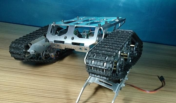 139.62$  Watch here - http://alip0k.worldwells.pw/go.php?t=32606580549 - DIY TKC2 Aluminum Tracked robot chassis RC Model tank crawler chassis Wali Metal Gear motors with Hall speed 139.62$