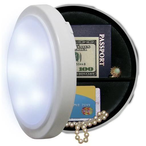 Closet Light Diversion Safe Hide Valuables Cash Secret Stash Hidden  Compartment