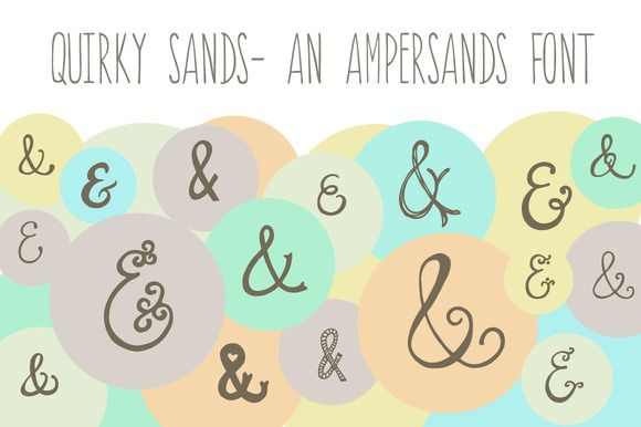Quirky Sands- An Ampersand Font ~~ INTRODUCTORY OFFER- 1/2 off for a limited time!  This hand-drawn ampersand font lives up to its name! Its a sure fit for save the dates, wedding invitations, and other fun design projects requiring that perfect . The uses for these little sands are
