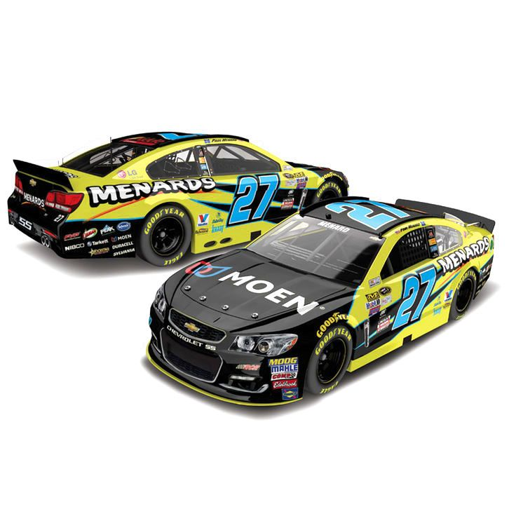 Paul Menard Action Racing 2016 #27 Menard's 1:24 NASCAR Sprint Cup Series Platinum Die-Cast Chevrolet SS - $69.99