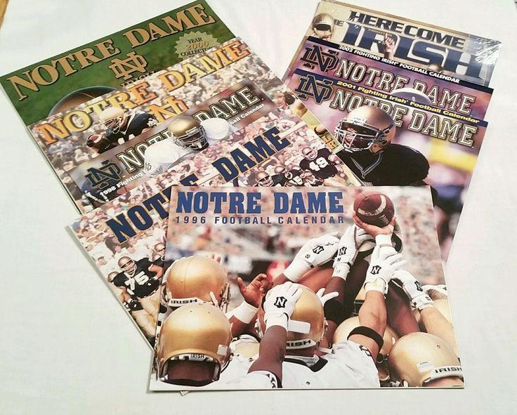 Notre Dame Football Calendar Lot of 8, 1996 to 2003 Fighting Irish color photos #NotreDameFightingIrish