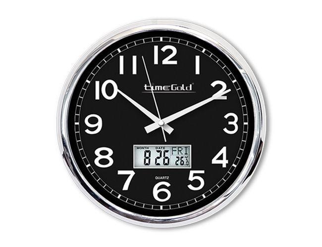 Dijital Metal Duvar Saati  Ürün Bilgisi;  Metalik Plastik Çerçeve Çap 32 cm. Mineral Cam Sessiz Akar Saniye
