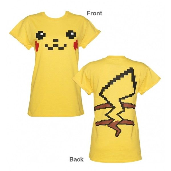 womens pikachu face costume boyfriend t shirt 34 cad liked on polyvore - Pikachu Halloween Costume Women