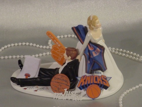 basketball couple wedding cake topper new york knicks wedding cake topper basketball 11101
