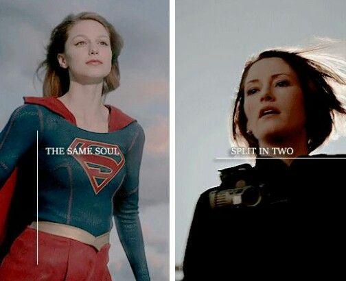 Kara Danvers And Super Girl In The Same Room