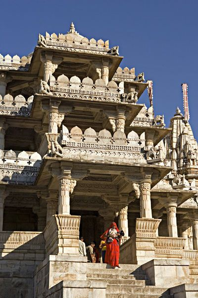 The Ranakpur complex is one of the biggest and most important Jain temples in India.  Ranakpur Jain Temple near Udaipur, Rajasthan, India