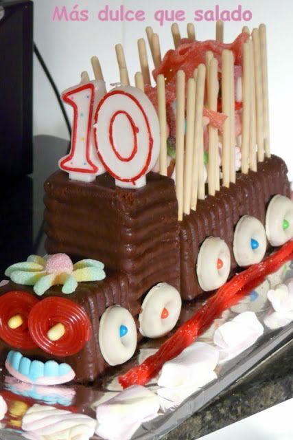 Más dulce que salado: Tarta tren de cumpleaños