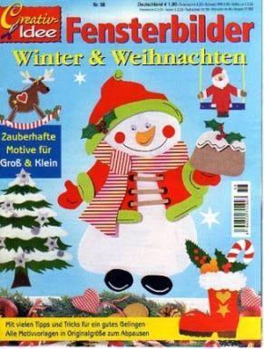 Creativ Idee - Fensterbilder Winter & Weihnachten