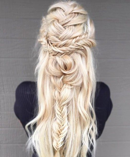 Hair accessory: back to school blonde hair long hair summer beauty prom beauty braid wedding wedding