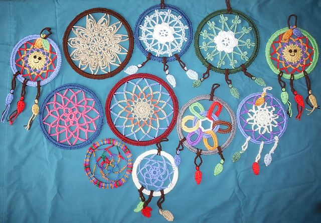 Ravelry: Magical Dream Catcher Frisbee pattern by Pan Perkins   -crocheted