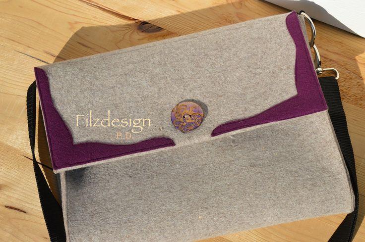 Filztasche im Landhausstil von Filzdesign - Petra Dreesen auf DaWanda.com