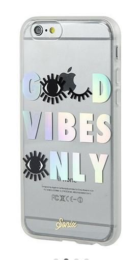 Cute iPhone cases: Good Vibes Only / Click to Shop