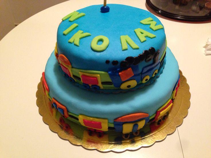 Nikolas first birthday cake