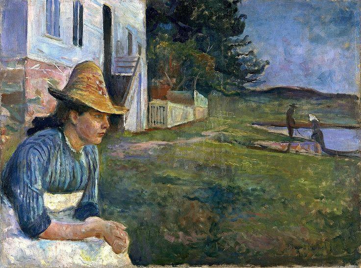 Edvard Munch -(1863 –1944) was the Norwegian painter Evening 1888 http://www.museothyssen.org/en/thyssen/contenidos_articulo/4