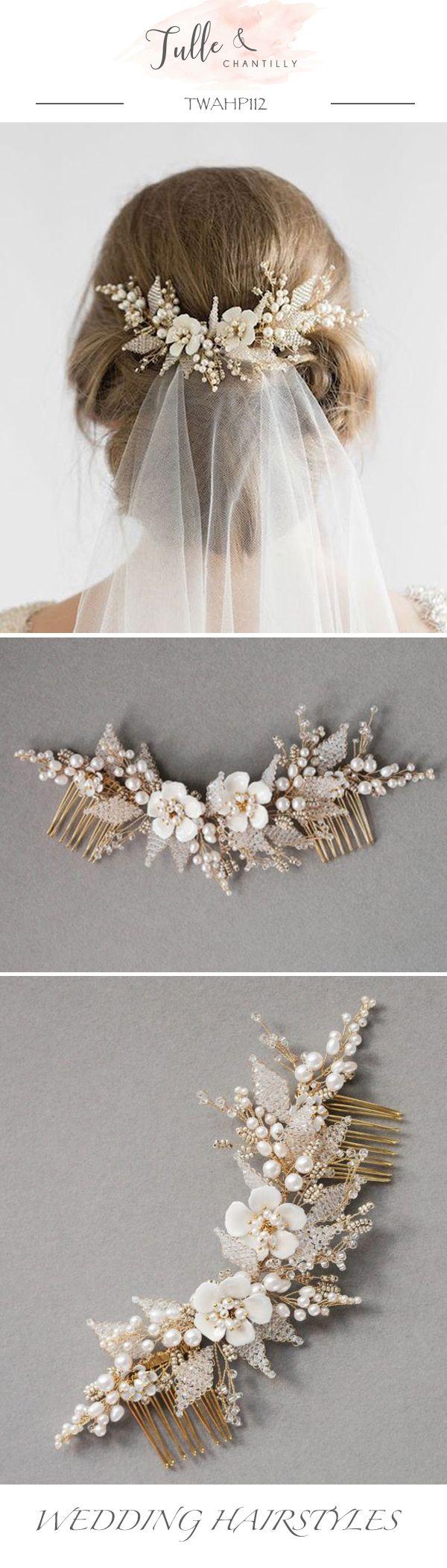 Swarovski   Crystal Hair Comb Pearl Elegant