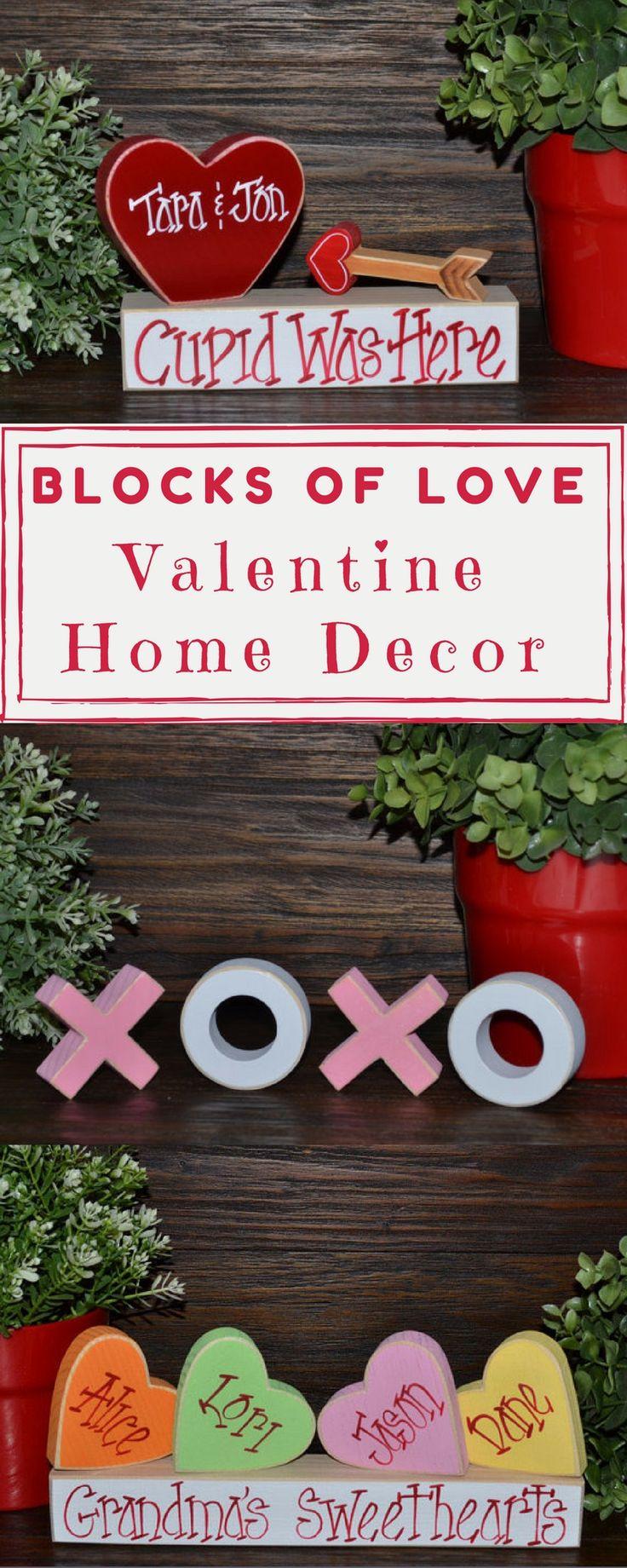 Decor,ValentineGlitter Block,home decor,valentine decor, XOXOHugs,Hugs and Kisses, Hearts,Stacking Blocks,Primitive Blocks,valentines decor,holidays,decoration,word blocks #ad