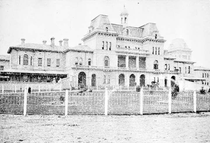 The Kew Lunatic Asylum, Kew, Victoria in 1885.