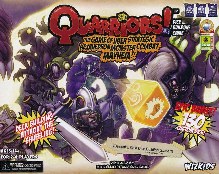 Quarriors, the dice building game.