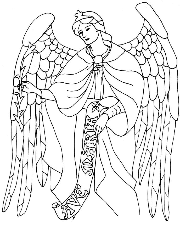 saint gabriel coloring page angels pinterest