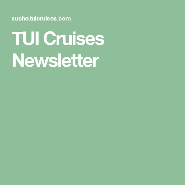 TUI Cruises Newsletter