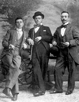 Grandpa Hendriks, the dapper one in the middle